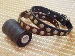 Adjustable Leather Special Dog Collar With Circles