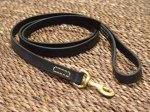 Adjustable Leather dog leash stitched