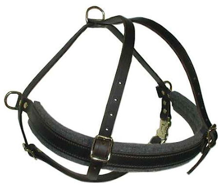 big dog harness, larhe padded leather dog harness for large breeds