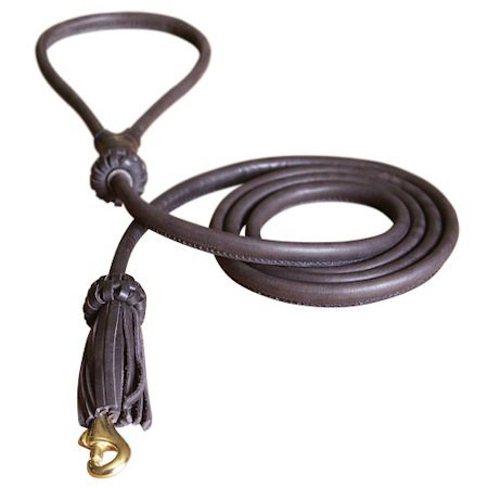 Adjustable Fashion Rolled Leather Dog Leash 4 foot Round lead for all dogs