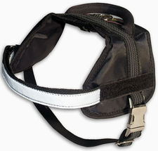Adjustable Boston Terrier Harness - Nylon Dog Harness for Tracking/Pulling