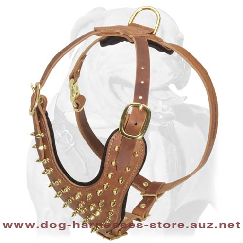 Comfortable And Safe Leather Dog Harness