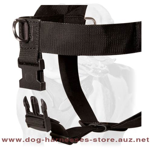 Security Work Nylon Dog Harness