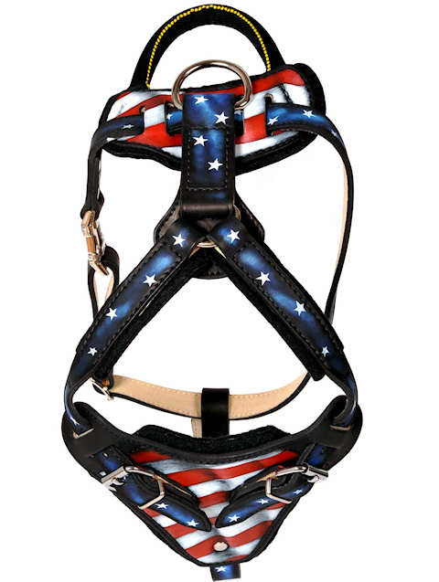 Best Design leather dog harness- hand made leather dog harness