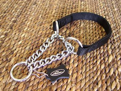 Adjustable Chain All Weather Choke Nylon Martingale Dog Collar 51614nylon