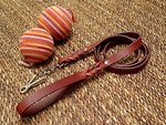Adjustable Handcrafted leather dog leash with quick release snap hook