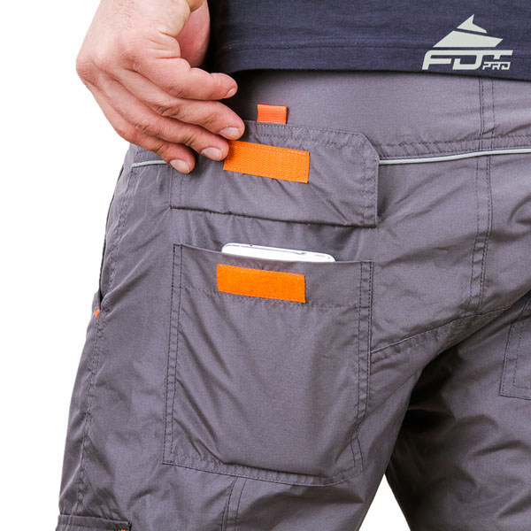 Convenient Design Professional Pants with Reliable Side Pockets for Dog Trainers