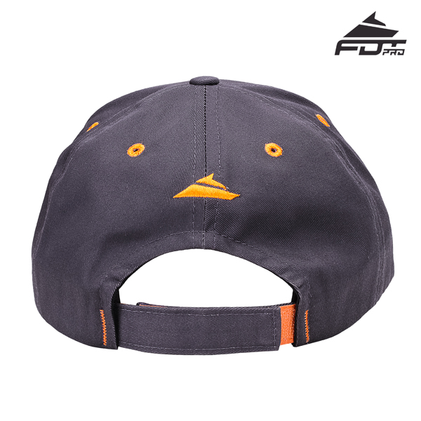 Dog Walking Easy Adjustable One-size Snapback Cap of Dark Grey Color