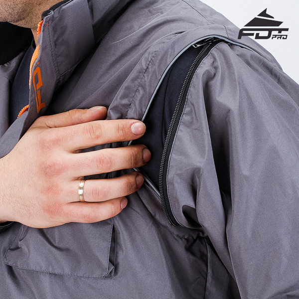 Reliable Zipper on Sleeve for FDT Professional Design Dog Training Jacket