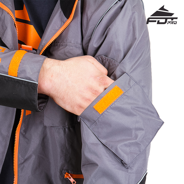 Comfortable Sleeve Pocket on FDT Professional Design Dog Training Jacket