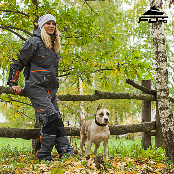 Men and Women Design Pants with Comfortable Side Pockets for Active Dog Training