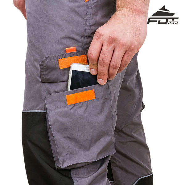 Comfy Design FDT Professional Pants with Reliable Back Pockets for Dog Training