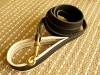 Adjustable Handcrafted leather dog leash width 1/2 inch with solid brass