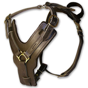 leather dog harness for belgian malinois